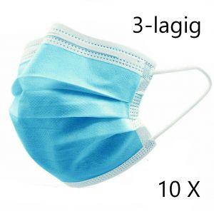 Mundschutz Maske Einweg - 3 lagig - 10x Pack